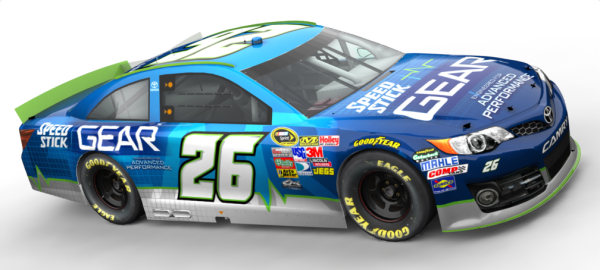 Rendering of Cole Whitt's Speed Stick GEAR car for the Daytona 500 on February 23, 2014 [Tuckahoe Strategies/Swan Racing Team]