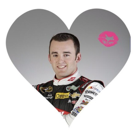 No clue who thought this would be idea, but someone over at Richard Childress Racing posted this Valentine's Day photo on their twitter account for Austin Dillon [RCR3ADillon]