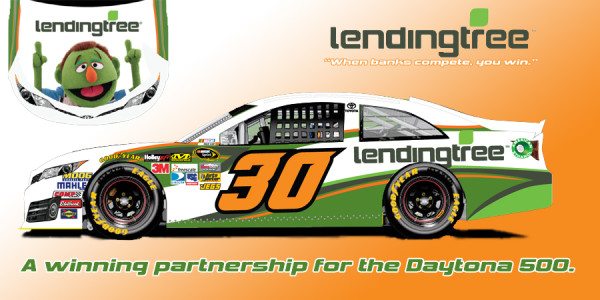 Photo of the No. 30 Toyota sponsored by Lending Tree to be driven by Parker Kligerman in the Daytona 500 on February 23, 2014. [Swan Racing Team]
