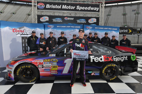 Hamlin Sets Bristol Qualifying Record in Food City 500 Pole Run [Getty Images for NASCAR]