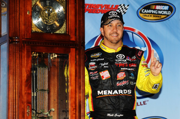 Matt Crafton Scores Coveted Martinsville Grandfather Clock With Kroger 250 Victory [Getty Images for NASCAR]