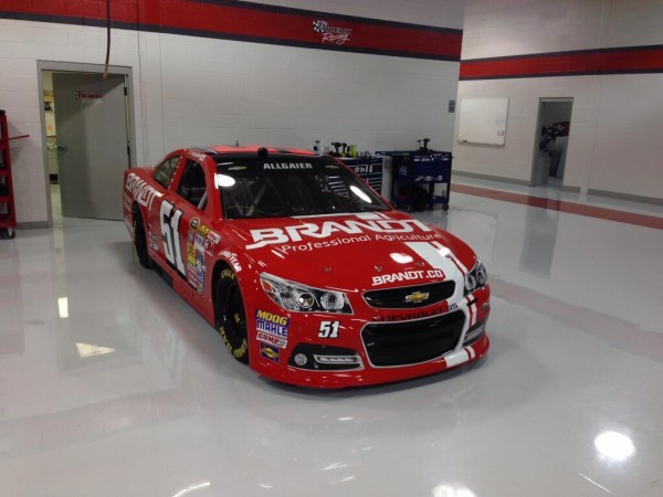 Brandt Chevrolet to be run by Justin Allgaier in the Daytona 500 on February 23, 2014 [HScott Motorsports]