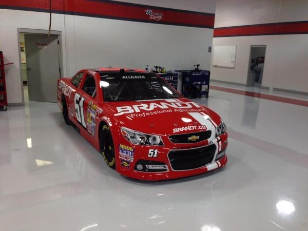 Brandt Chevrolet to be run by Justin Allgaier in the Daytona 500 on February 23, 2014 [HScott Motorsports]