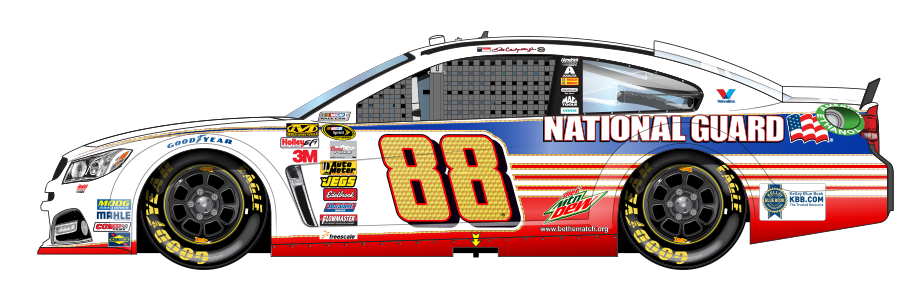 Dale Jr National Guard Drive To End Hunger Car